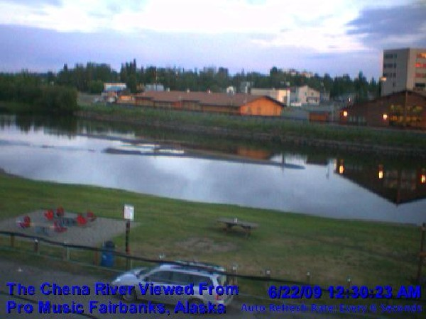 Webcam Fairbanks Chena River - Alaska Live webcamera